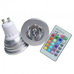 FARETTO LED 5W RGB + RADIOCOMANDO - GU10