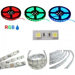 STRISCIA LED 5050-60LED/MT RGB 5mt 12V IP20  NON RESINATO RGB