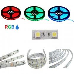 LED STRISCIA 5050-60LED/MT RGB 5mt 12V IP65 RESINATO