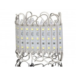 LED MODULI SMD5050-3CHIP  12V CON LENTE BIANCO
